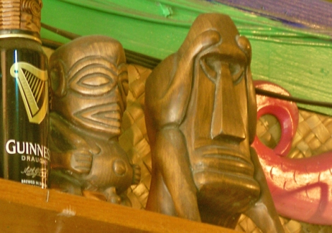 tiki mugs at Arnolds bar Waikiki