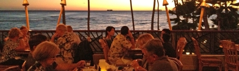 Waikiki sunset from Hula Grill