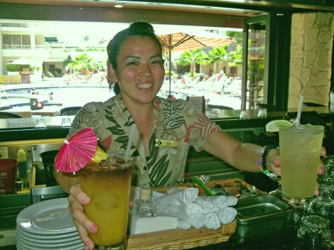 bar at outrigger reef on the beach