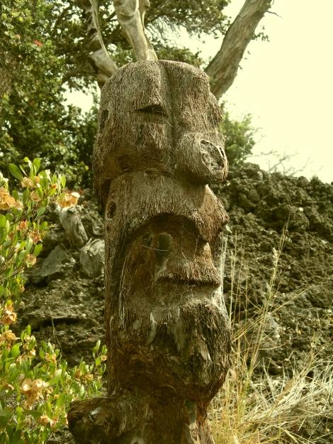 Kau outpost tiki carvings hawaii