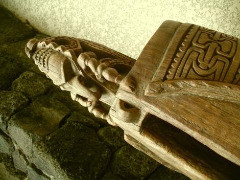 wooden drum at Sheraton Kona Hawaii